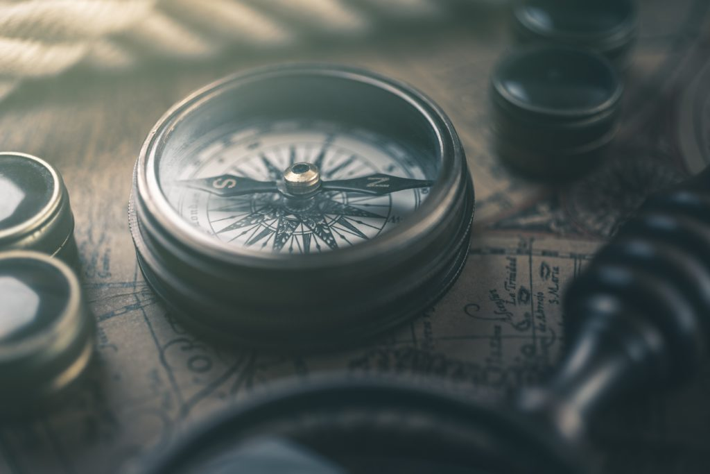 Listen to our customers and learn their direction - picture of a compass